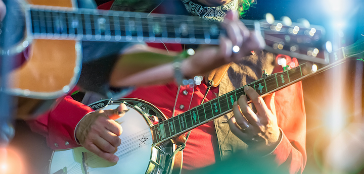 Banjo,Player,In,The,Country,Band